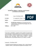 Convocatoria Conferencia 23 Feb 2015 Cnoc