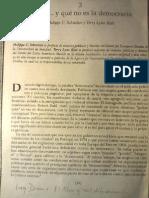 Schmitter - Karl (1991) Qué es y qué no es democracia