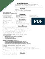 PatrickHarrington Resume 2-2015