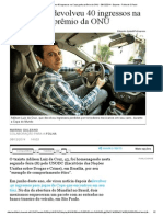 Taxista Que Devolveu 40 Ingressos Na Copa Ganha Prêmio Da ONU