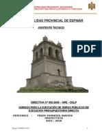Directiva Nº002- Ejecucion de Obras APROBADO R.A. 096-2008-MPE-C.doc