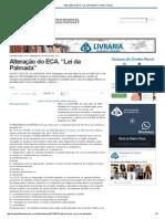 Alteração Do ECA
