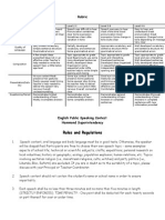 speech rules and rubric