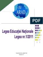 Legea Educaţiei Naţionale Final Final