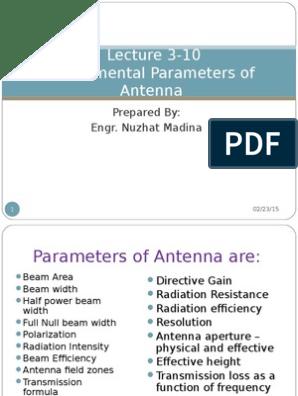 Chapter 01 Fundamental Parameters of Antenna | Antenna