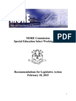 More Commission Special Education 2015 Recommendations
