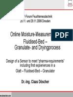 Fluid moisture measurement