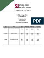 2015 Spring a-Student Schedule-Fredy JesusChoque Hinojo