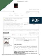 Automobile Insurance - FAQ - Team-BHP