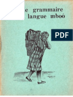 R. Hedinger. Petite Grammaire de la langue Mboo