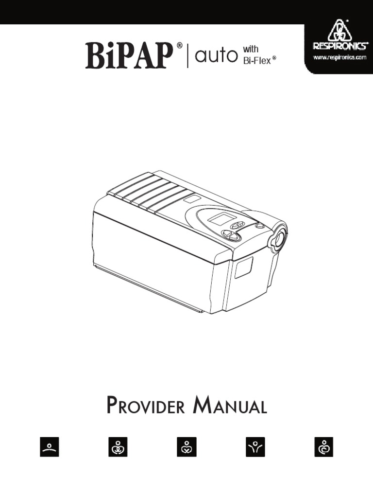 Respironics BiPAP Auto Bi Flex Provider Manual NOT Mseries