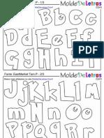 Molde de Letras Pokemon Alfabeto Pequeno