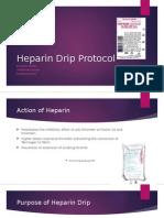 heparin drip protocol