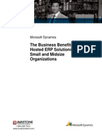 Business Benefits of Hosted Erp White Paper