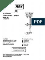Drill Press Machine User Manual
