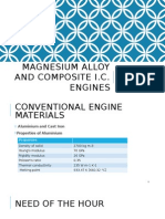 magnesium alloy and composite engine blocks