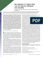Laminin 1 globular domains 4–5 induce fetal development but are not vital for embryonic basement membrane assembly