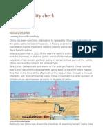 China, A Reality Check