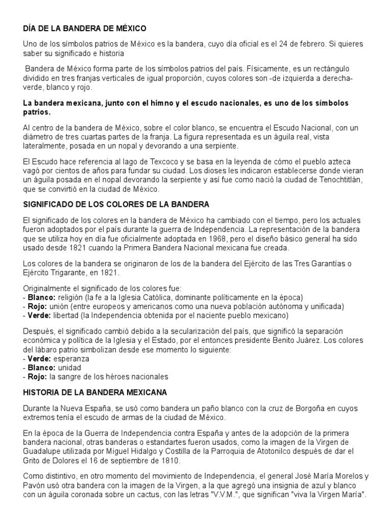 Significado de los colores dela bandera de mexico pdf