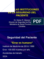 Rol de Las Instituciones en La Seguridad Del Paciente(1)