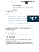 Matrizes Determinantes e Sistemas Lineares - Exercícios Resolvidos