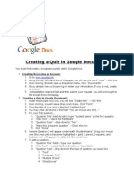 Creating a Quiz in Google Documents