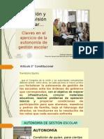 Dirección y Supervisión escolar…  Claves en el ejercicio de la autonomía de gestión escolar