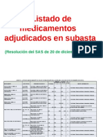 Listado de Medicamentos adjudicados en subasta Diciembre 2012