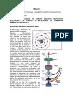 Ensayo Analis de Residuos de Disparo Microspia Electronica de Barrido