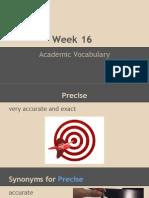 week 16 vocab