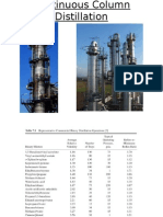 CONTINOUS DISTILLATION COLUMN