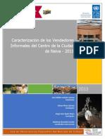 Caracterización de los Vendedores Informales del Centro de la Ciudad de Neiva - 2013