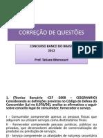 Correcao de Questoes - Foco Cesgranrio -Bb 2012