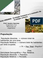 Aula 2 ecologia urbana - Ecologia Humana e o contexto da ecologia urbana .pptx