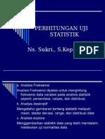Perhtungan Uji Statistik