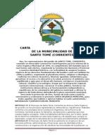 Carta Organica de santo Tomé