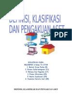Definisi, Klasifikasi Dan Pengakuan Aset