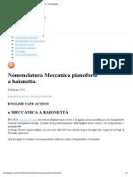 Nomenclatura Meccanica Pianoforte a Baionetta