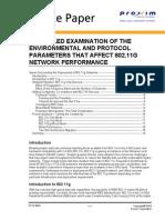 Parameters 802.11g Performance