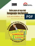 Guía Para El Uso Del Lenguaje Inclusivo