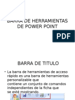 Barra de Herramientas de Power Point