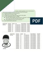 Unicare EEG Cap Catalogue