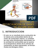 Sistema de Recirculación de Gases de Escape (Egr)