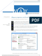 Bloquear Programas Con Firewall de Windows 8 MVPWAY
