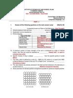 Soil Mechnaics t1 With Solutions 2nd Sem 2014-15