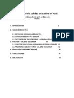 La Evaluación de La Calidad Educativa en Haití