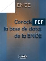 Conociendo la base de datos de la ENOE