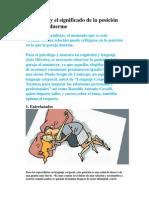 La Pareja y El Significado de La Posición en La Cual Duerme(1)