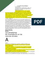 Los Paradigmas de Investigación en Las Ciencias Sociales