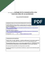 MartinSerrano 1990 Epistemologiacomunicacion